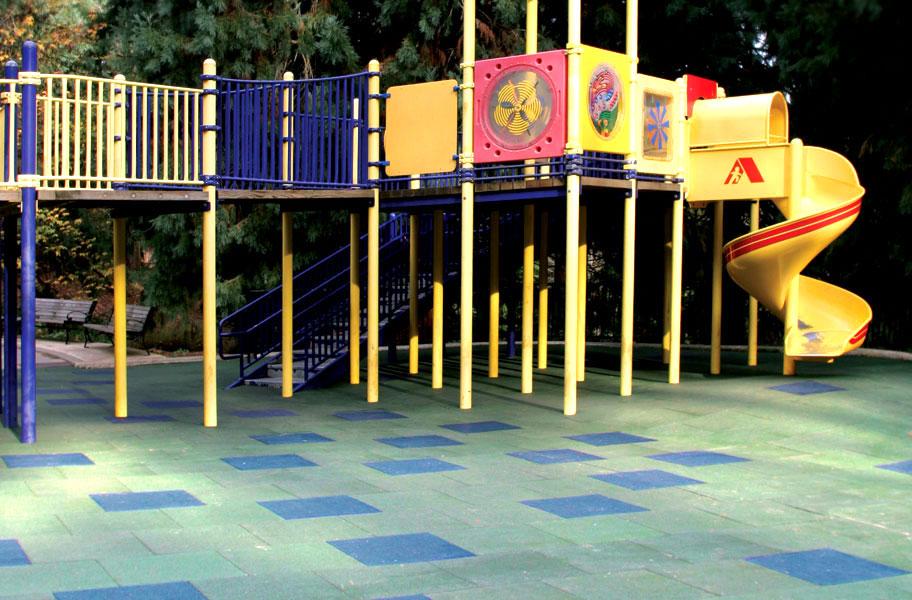 Rebound Playground Tiles Safe Rubber Playground Tiles
