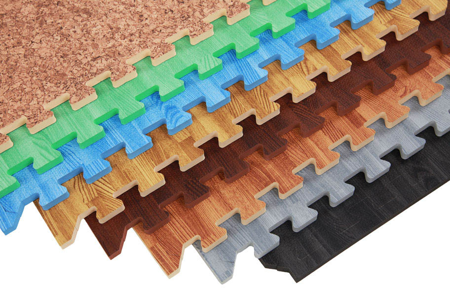 Premium Soft Wood Tiles Interlocking Foam Mats
