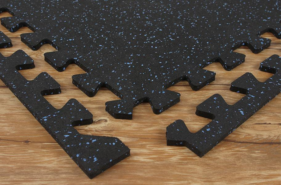 SportLock Tile Easy Install Interlocking Rubber Tile - Rubber snap lock flooring