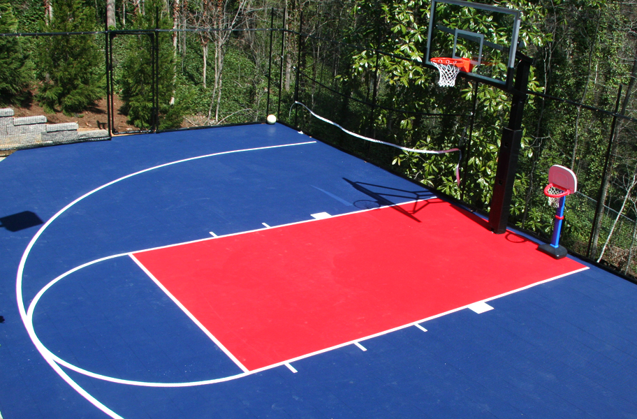Outdoor sports tiles discount outdoor gym tiles for Diy sport court