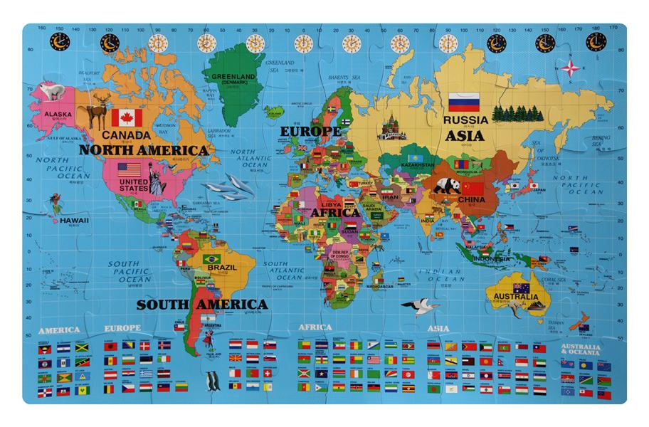 Foam world map kit englishkorean discount interlocking puzzle mat foam world map kit englishkorean gumiabroncs Gallery