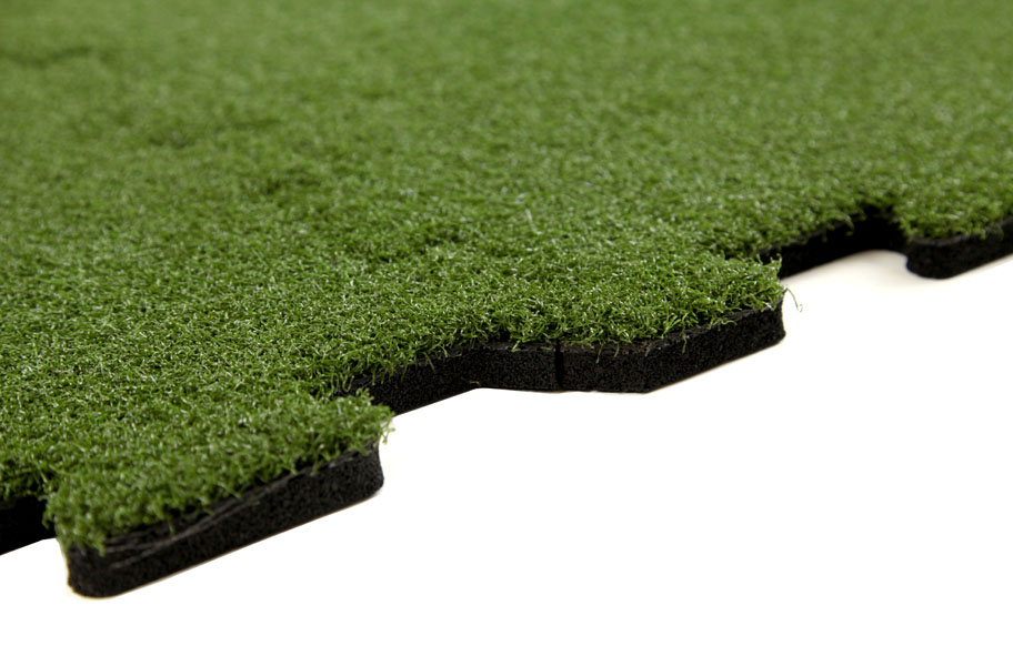 Turf tiles easy to install interlocking turf tiles autos for Grass carpet tiles