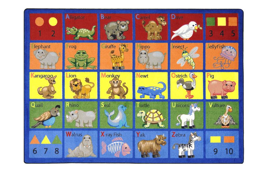 Joy Carpets Animal Phonics Kid S Rug Quality Teaching Rug