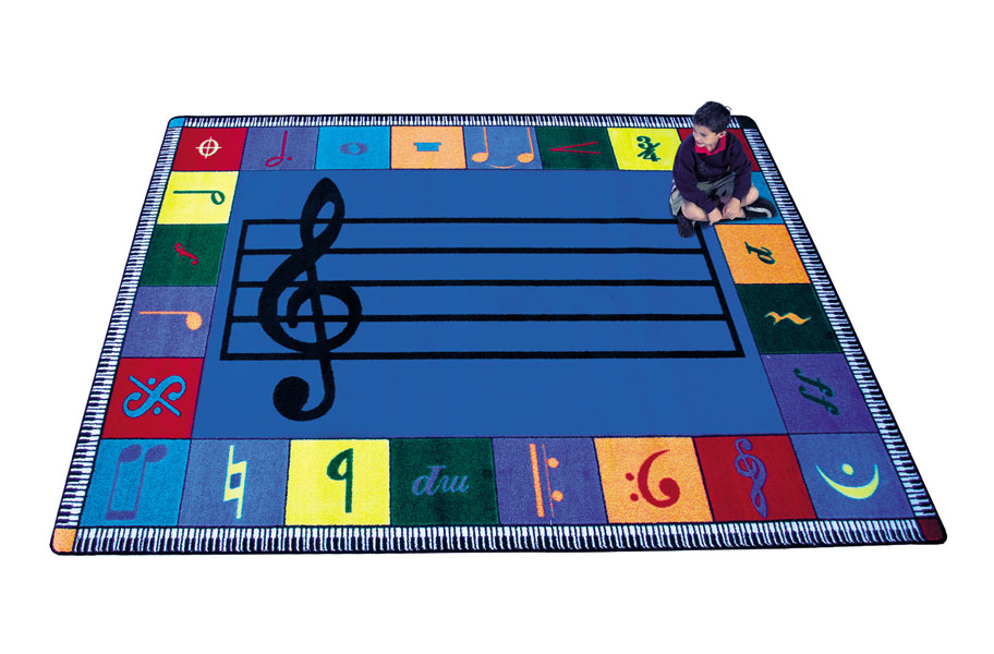 Joy Carpets Note Worthy Music Room Area Rugs