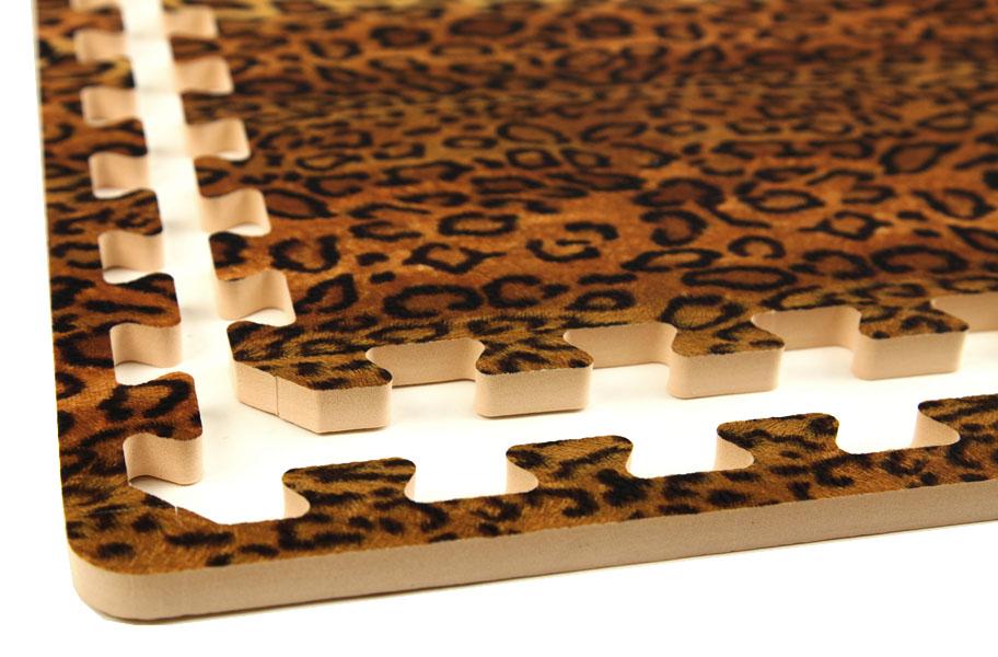 Funky animal print tiles interlocking desginer foam tiles for Zebra print flooring