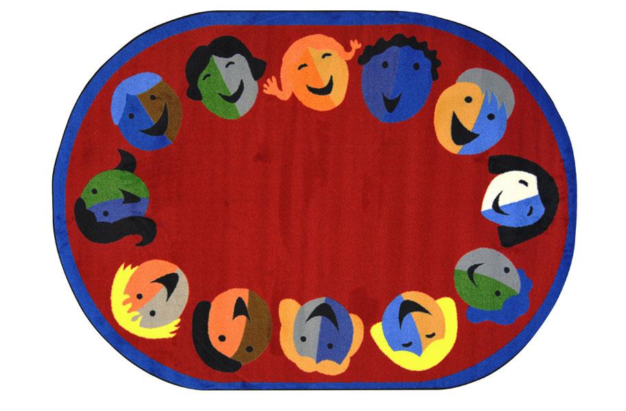 Joy Carpet Joyful Faces Kids Area Play Rugs