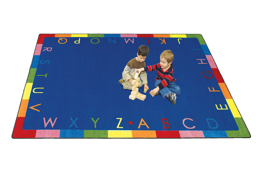Joy Carpets Rainbow Alphabet Reading Kids Rug