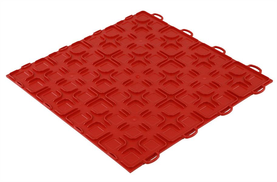 Solid Tiles W Raised Squares Diy Interlocking Garage