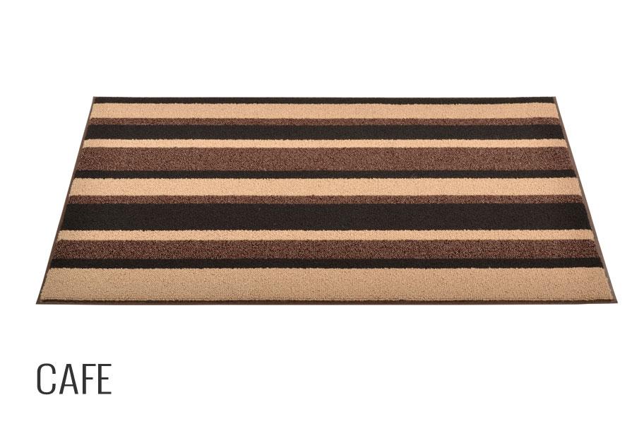 No trax striped door mat textura dual fiber indoor for Door mat indoor