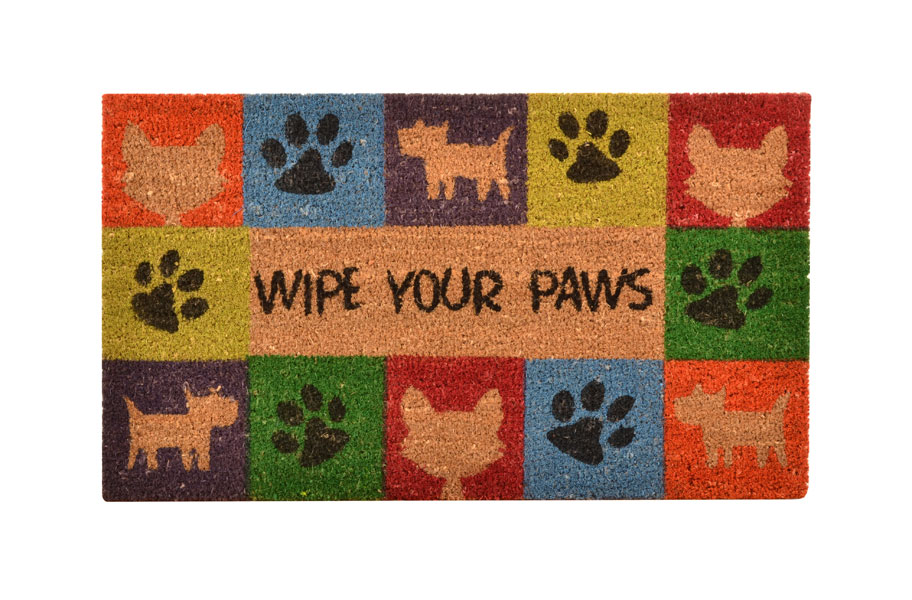No Trax Wipe Your Paws Coir Doormat Animal Lovers S