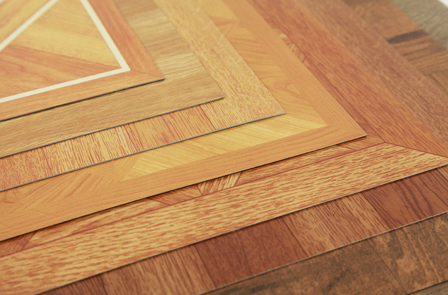 Wood peel stick tile hardwood vinyl flooring for Stick on vinyl flooring