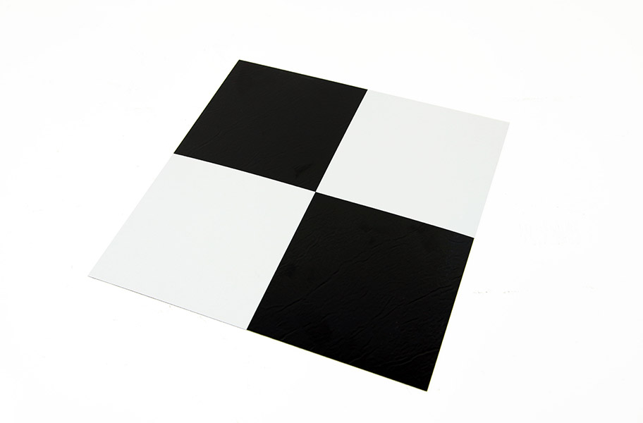 Black Amp White Self Adhesive Vinyl Tile Low Cost Flooring