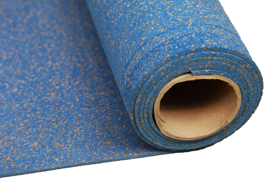 6mm Cork Rubber Rolls Green High Color Rolled Gym Flooring