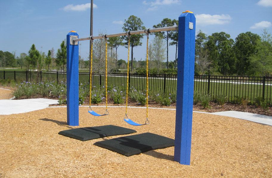 Swing safety mats swing set rubber protection mats for Cork playground flooring