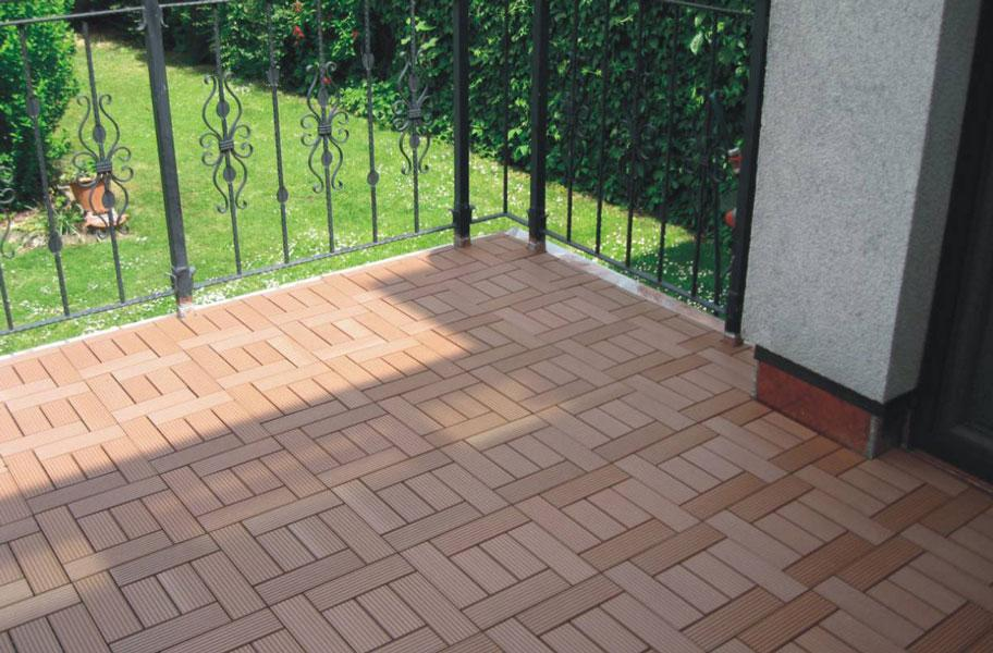 Naturesort deck tiles 6 slat weather resistant for Garden decking squares