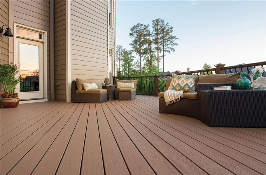 Trex Enhance Grooved Edge Decking Board Green Decking