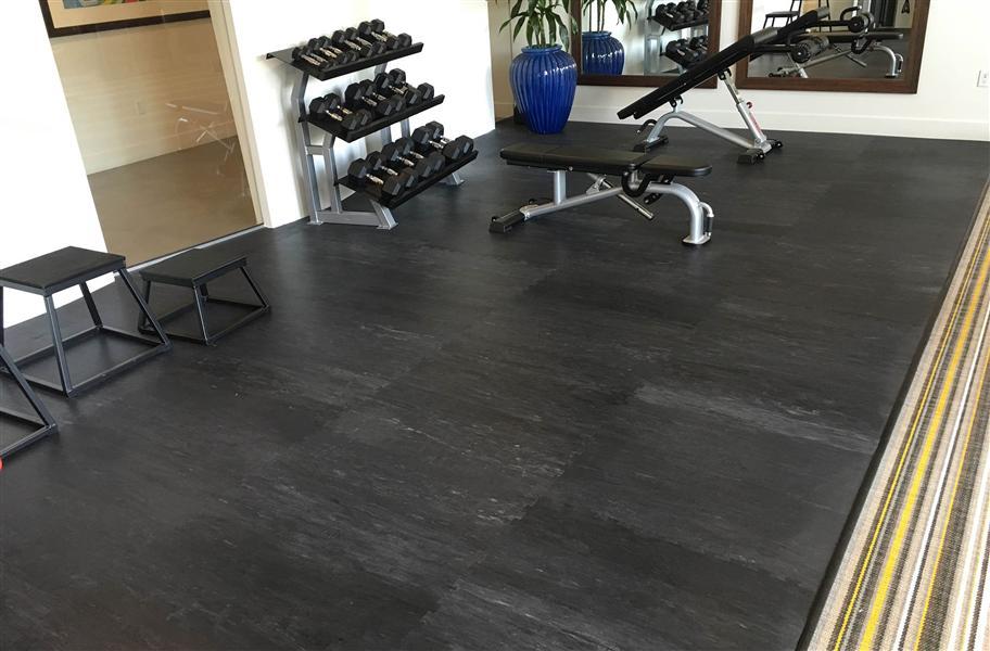 Pavigym 6mm Performance Tiles Odor Less Rubber Flooring