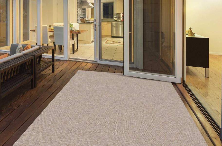 Hobnail Taupe Indoor Outdoor Area Rug