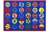 Joy Carpets Alphabet Patterns Kids Rug