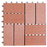 Red Naturesort Deck Tiles (8 Slat)