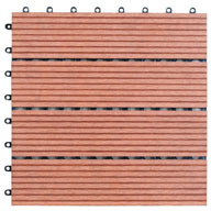 Red Naturesort Deck Tiles (4 Slat)