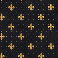 Black Joy Carpets Fleur-de-Lis Carpet