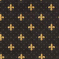 Brown Joy Carpets Fleur-de-Lis Carpet