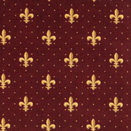 Burgundy Joy Carpets Fleur-de-Lis Carpet