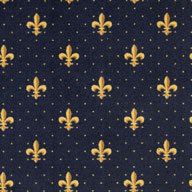 Navy Joy Carpets Fleur-de-Lis Carpet
