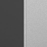 Matte Silver and Grey Ulti-MATE Garage Pro 1-Door Base Cabinet Kit