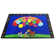 Rainbow PaintRainbow Paint Kids Rug