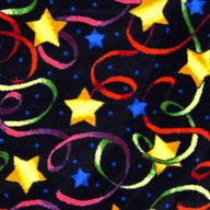 Multi Joy Carpets Streamers & Stars Carpet