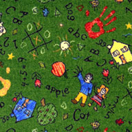 Green  Joy Carpets Scribbles Carpet