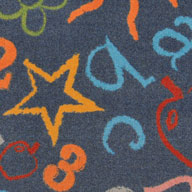 Gray Joy Carpets Kid's Art Carpet
