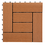 Red Helios Deck Tiles (6 Slat)