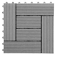Gray Helios Deck Tiles (6 Slat)