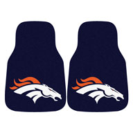 Denver BroncosNFL Carpet Car Mats