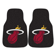 Miami Heat NBA Carpet Car Mats