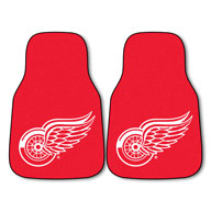 Detroit Red Wings - Red NHL Carpet Car Mats