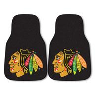 Chicago Blackhawks NHL Carpet Car Mats