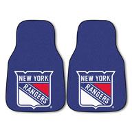 New York Rangers NHL Carpet Car Mats