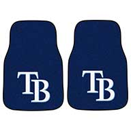 Tampa Bay RaysMLB Carpet Car Mats