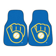 Milwaukee Brewers 2MLB Carpet Car Mats
