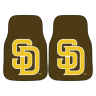 San Diego Padres 2MLB Carpet Car Mats