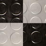 Black/Graphite  Coin Nitro Tile - Motorcycle Mats