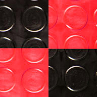 Black/Victory Red Coin Nitro Tile - Motorcycle Mats