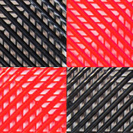 Black/Victory Red Vented Nitro Tile - Motorcycle Mats