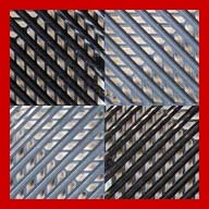 Black/Graphite/Victory Red Vented Nitro Tile - Motorcycle Mats