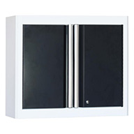 White/Charcoal American Heritage 2-Door Wall Cabinet