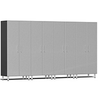 Stardust Silver MetallicUlti-MATE Garage 2.0 Series 4-PC Tall Cabinet Kit
